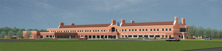 Sketch of TCHS in West Grove, PA